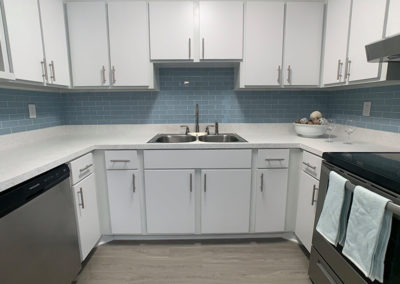 THE LOFTS Gainesville apartments newly renovated kitchen